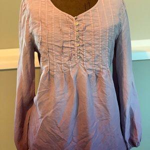 J.jill lavender ombré blouse